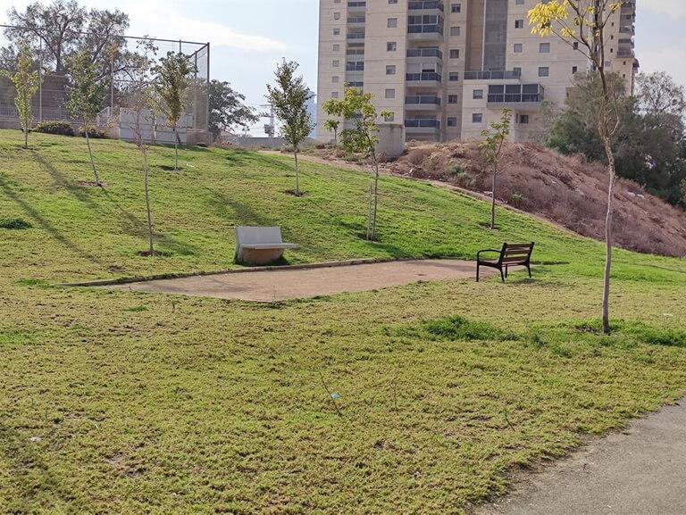 Le terrain de pétanque publique du Parc HaSofrim de Be'er-Sheva