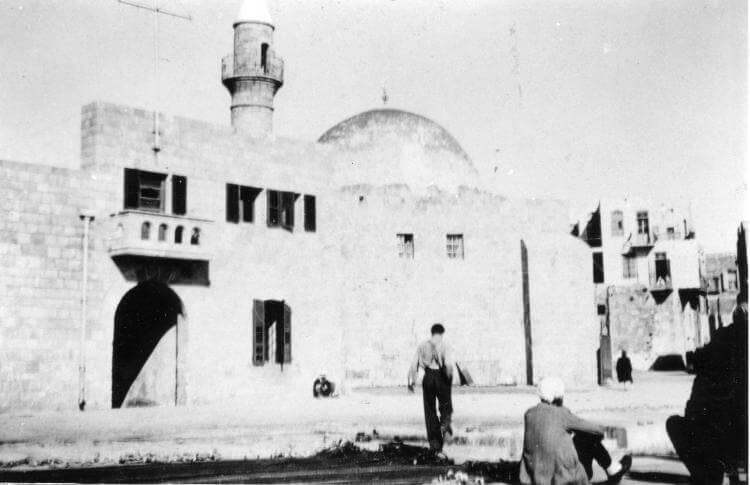 Mosquée de Beer Sheva photographiée durant l'Opération Yoav en 1948