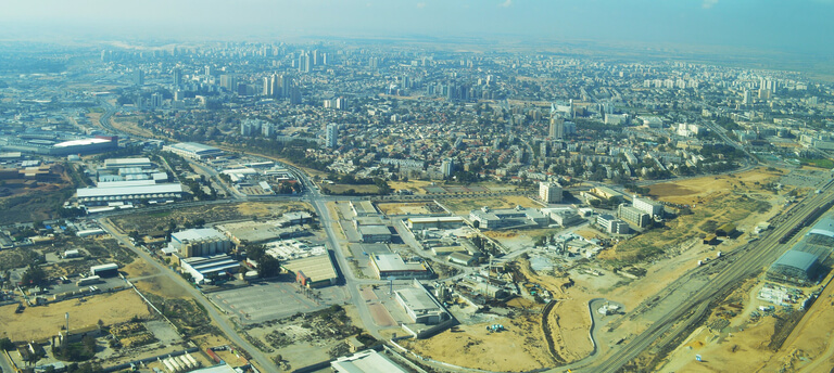 Panorama de Be'er-Sheva photographié le 29 décembre 2016