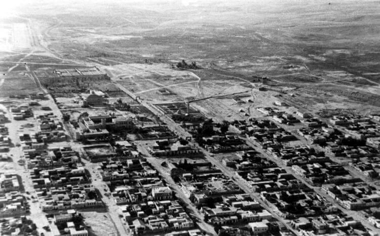 Une photo aérienne de Be'er-Sheva en 1948